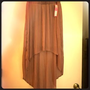 Hi/low asymmetric skirt Sz XL **NWT